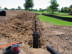 golf course drainage system